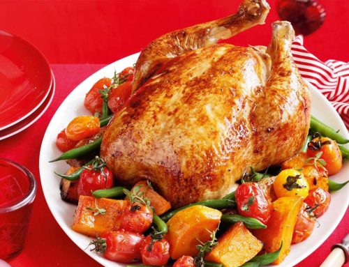 Roast Chicken with Thyme & Onion Stuffing